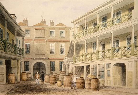 The Bell Inn, Aldersgate Street, 1851