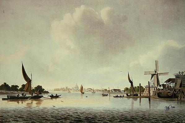 A View of the Thames near Vauxhall