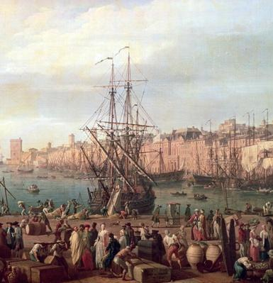 Morning View of the Inner Port of Marseille and the Pavilion of the Horloge du Parc, 1754