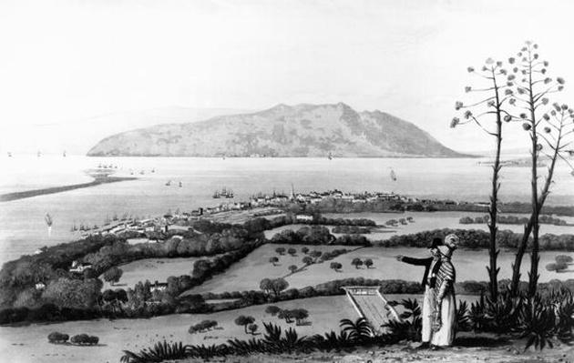 Kingston and Port Royal, from 'A Picturesque Tour of the Island of Jamaica', engraved by Thomas Sutherland
