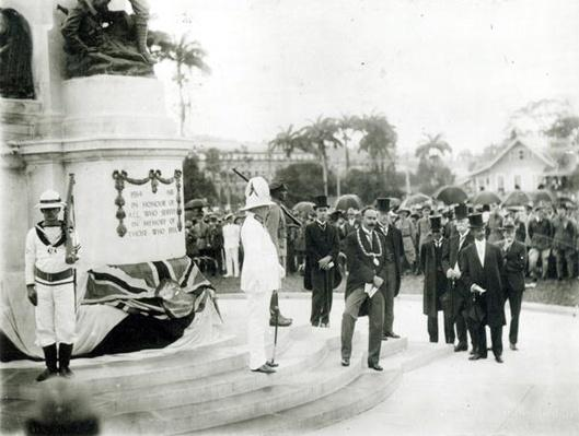 The unveiling of the War Memorial, Port of Spain, Trinidad, 1920