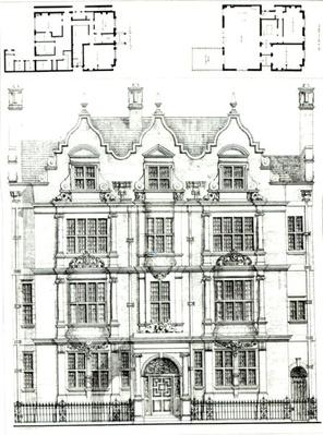 No.70 Ennismore Gardens, South Kensington, from 'The Building News', 23rd July 1886