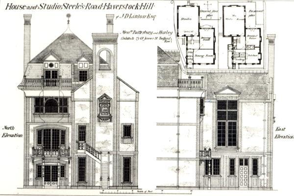 House and Studio, Steele's Road, Haverstock Hill, from 'The Building News',9th February 1877