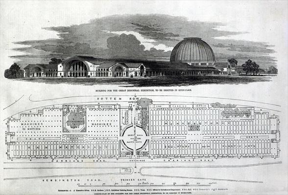 Building for the Great Industrial Exhibition, 1850