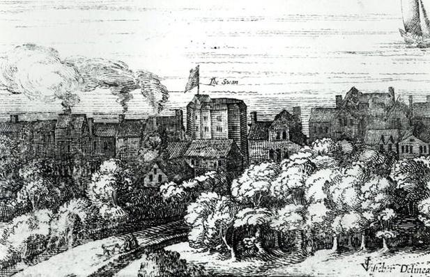 The Swan Theatre on the Bankside as it appeared in 1614
