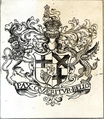 Coat of arms of Oliver Cromwell