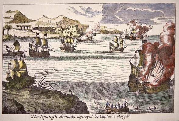 Captain Morgan defeats Spanish warships blocking the mouth of Lake Maracaibo in 1669