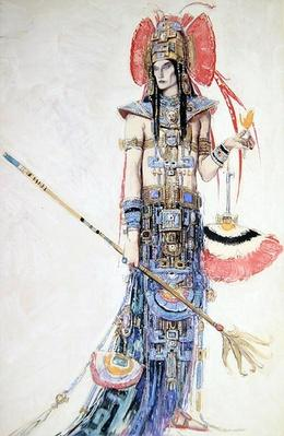 Costume Design for 'Montezuma', from the Operetta by Cecil Lewis