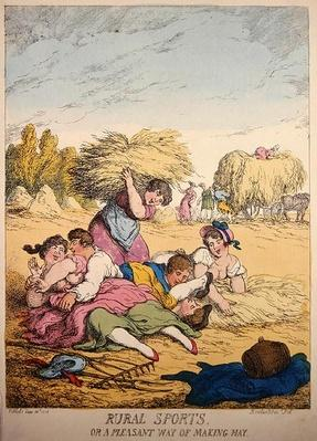 Rural Sports or A Pleasant way of making Hay, 1814