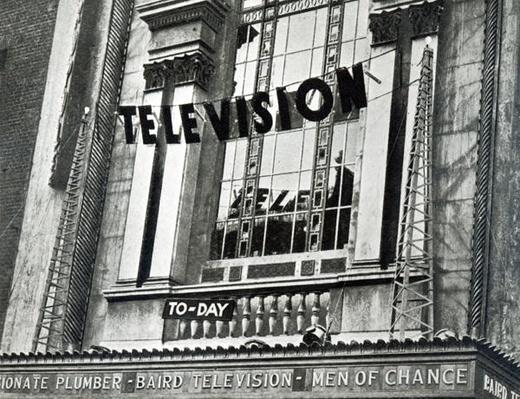 Advertising that Television was being shown at the Metropole during Derby Week, 1932