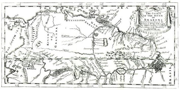The Course of the River Amazon, 1698