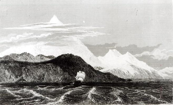 Mount Sarmiento, engraved by Thomas Landseer