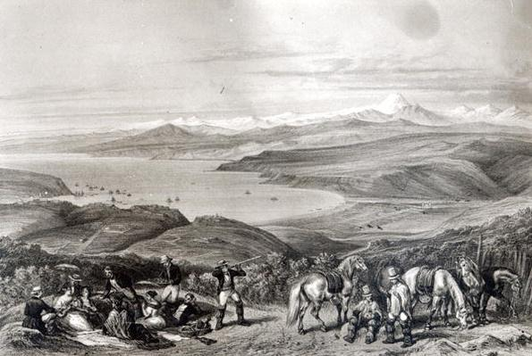 Distant View of the Aconcagua Volcano, from 'Historia de Chile' engraved by F. Lehnert
