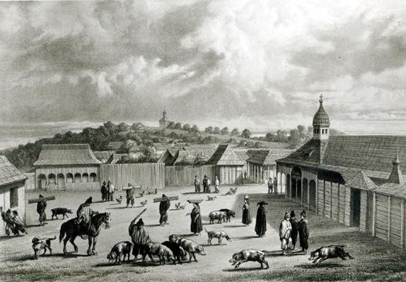 Plaza de San-Carlos de Chiloe, 1835