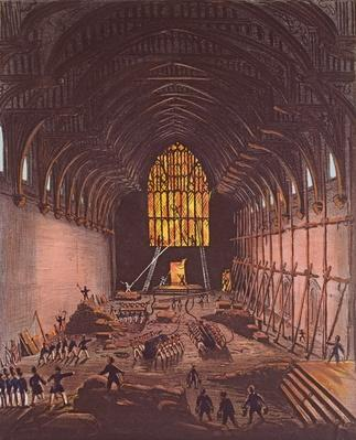 The Interior of Westminster Hall, 1834