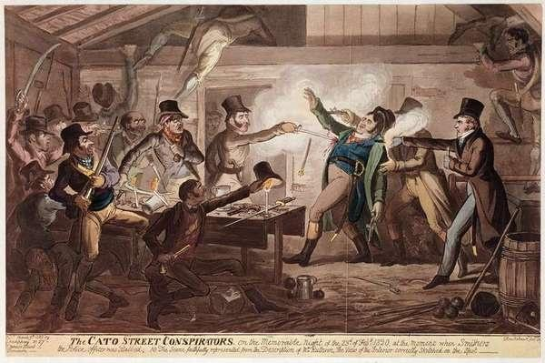The Cato Street Conspirators, pub. by G. Humphrey, 9th March 1820