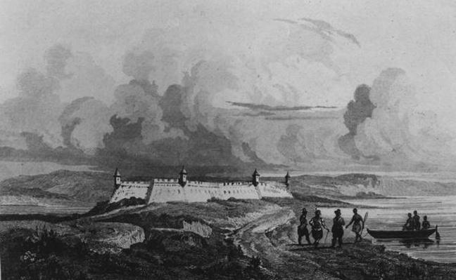 Ancient Fort on the Rio-Grande, from 'Bresil, Columbie et Guyanes' by Ferdinand Denis and Cesar Famin 1837