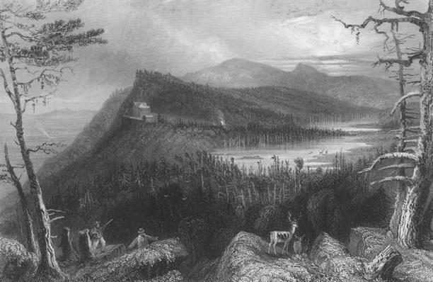 The Two Lakes and the Mountain House on the Catskills, 1838