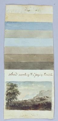Colour Chart, from 'Hints to form the taste and regulate ye judgement in sketching landscape', c.1790