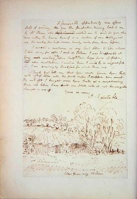 Autograph letter from John Constable to John Thomas Smith