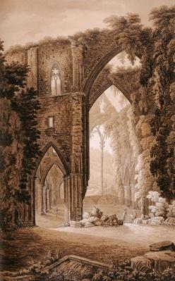 Tintern Abbey, from the 'Historical Tour through Monmouthshire' by William Coxe, printed by T. Cadell, 1801