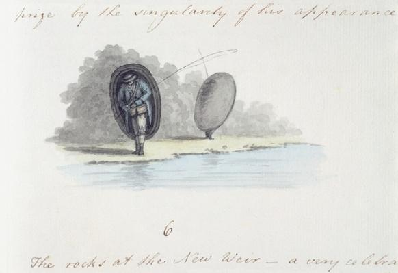 Fisherman, from the 'Journal of a tour down the Wye', printed in 1786