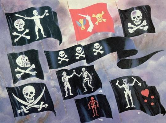 Various Flags used by Famous Pirates