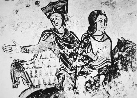 Eleanor of Aquitaine with a riding companion