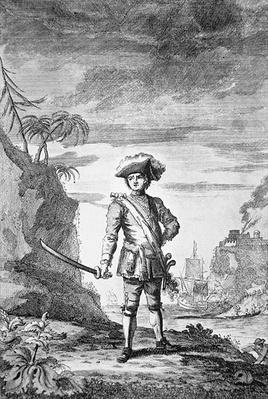 Captain Bartholomew Roberts, engraved by James Basire, 1772