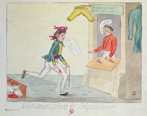 Colin Court at the stain removers, 1814