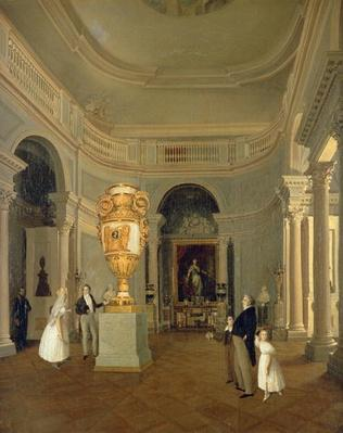 The Oval Hall of the Old Hermitage, St Petersburg