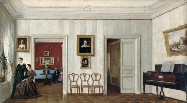 The small hall with the piano