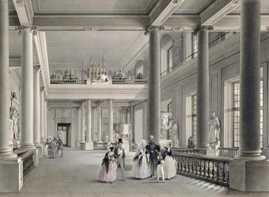 The Upper Entrance hall of the Fine Arts Academy in St. Petersburg, 1838