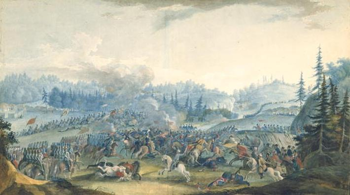 A scene from the Russian-Turkish War, 1801