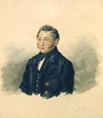Portrait of Faddey Venediktovich Bulgarin, c.1840