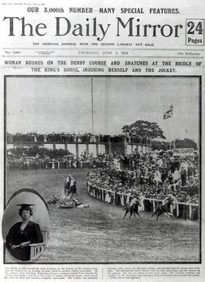 Front cover of 'The Daily Mirror', 5th June 1913