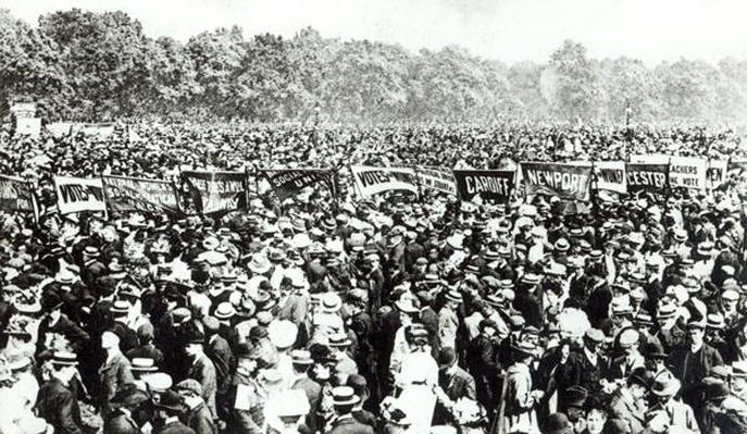 Great Votes for Women demonstration in Hyde Park, 21st June 1908
