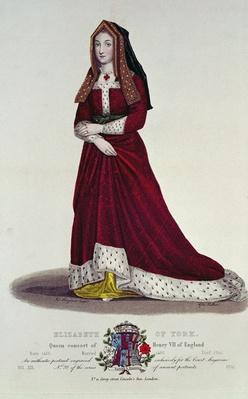 Portrait of Elizabeth of York, 1841