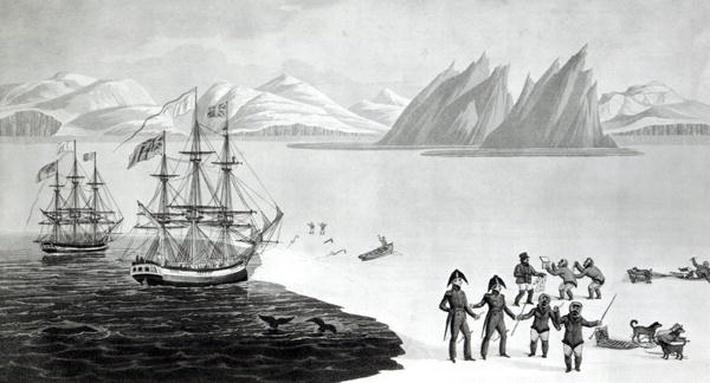 First communication with the natives of Prince Regents Bay, 1818