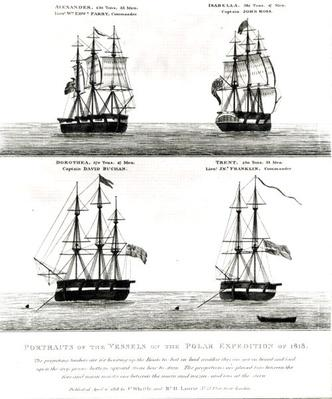 Portraits of the vessels on the Polar Expedition, 1818