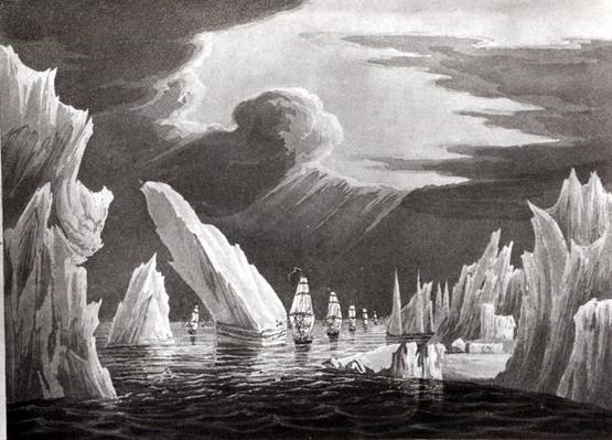Passage through the Ice, 16th June 1818 engraved by D. Havell