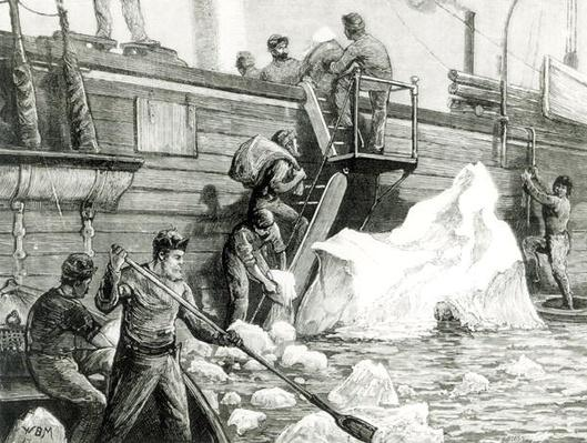 The Arctic Expedition Watering from an Iceberg, from 'The Graphic', 11th September 1875