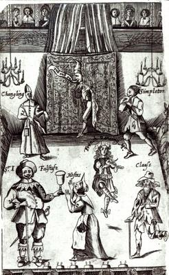 Comic Actors in Performance, 1662