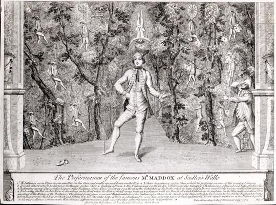 The Performances of the famous Mr. Maddox at Sadler's Wells, July 1752