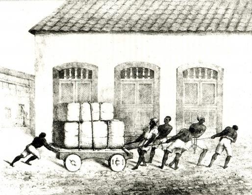 Custom House Negroes, Rio de Janeiro, engraved by Redman, 1821