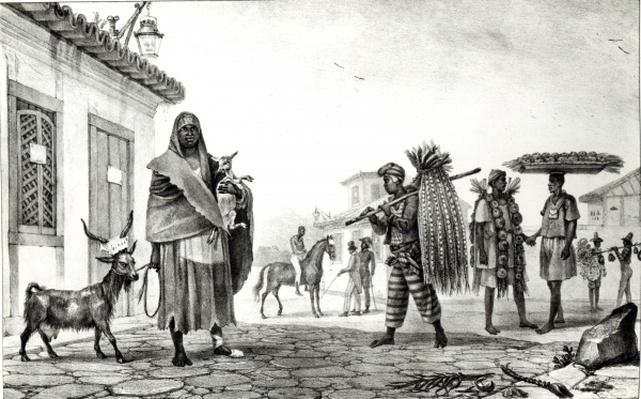 House for Rent, Horse and Goat for Sale, from 'Voyage Pittoresque et Historique au Bresil',