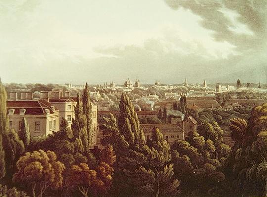 View of Oxford from the Gallery in the Observatory, engraved by J. Bluck, 1st July 1814