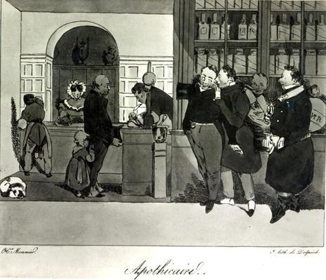 Apothecary, engraved by Delpech