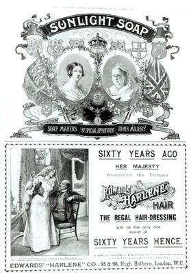 Sunlight Soap advertisement, from 'The Illustrated London News Diamond Jubilee Number', 1897