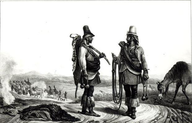 Charrua Indians from 'Voyage Pittoresque et Historique au Bresil', engraved by C. Motte